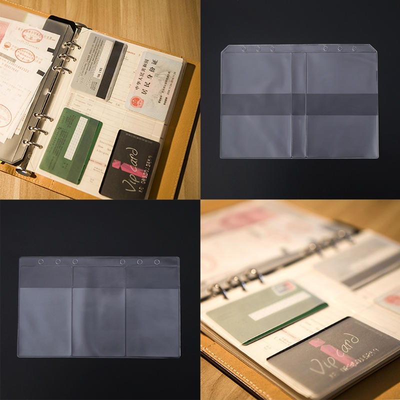 Clear PVC Business Card Storage Bag Filing Products Holder Binder Folder Cover