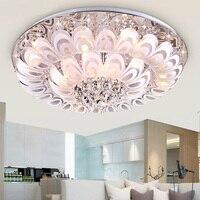 Хрустальный цветок Алмазная светодио дный потолочная лампа кристалл круглая атмосфера Отель гостиная спальня Ресторан потолочный светиль
