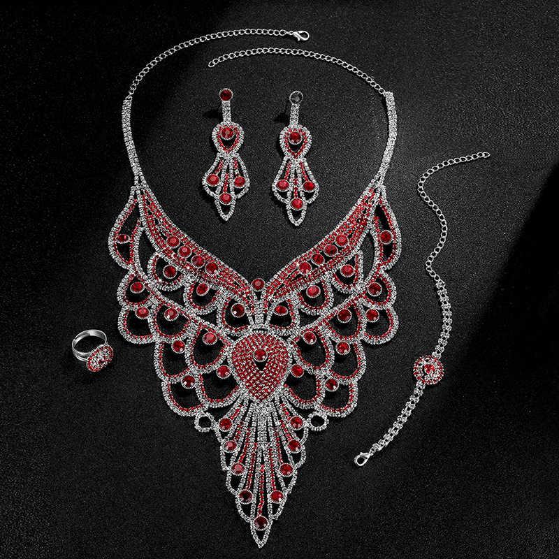 Rnafashion مجوهرات الكريستال النمساوي مجموعات مجوهرات للنساء الأزياء والمجوهرات و المجوهرات اللون الزفاف الزفاف مجموعات المجوهرات