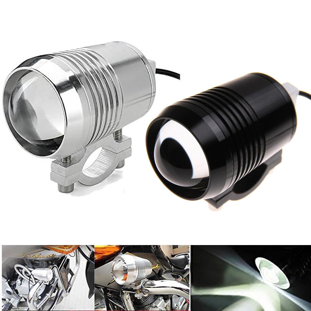 Black/Silver U2 1200LM 30W High Low Beam Motorcycle Headlight LED Driving Motorbike Fog Light Flash Lamp Bicycle Headlamp Bulb