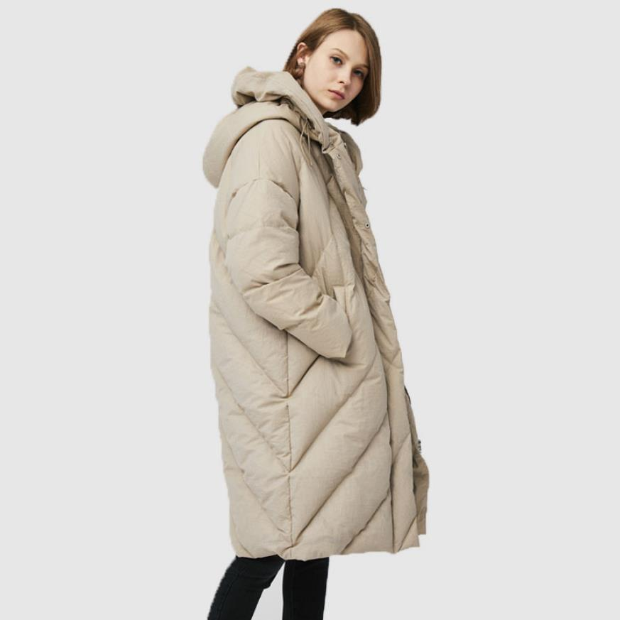 Wholesale Anti-season promotion bread style warm   down   jackets female hooded white goose   down     coat   for cold weather wq2260