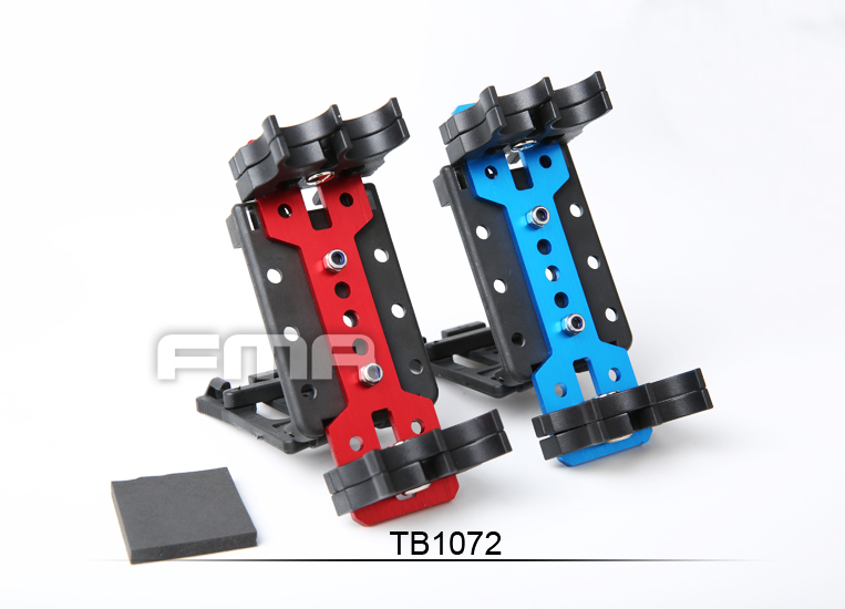 TB-FMA Airsoft Accessories Practical 4Q Series Shotshell Carrier Silver Four Color BK/BL/SV/RED TB1072