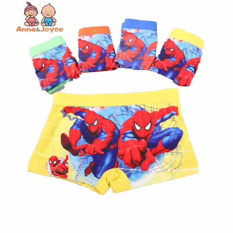 5pcs/lot Kids   Panties   Boys Boxer Underwear Cartoon colorful Boxer Fashion Children's Cotton Underwear Boy Shorts
