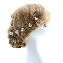 Freeshipping Fashion& Elegance flower Pearl bride hair stick ,Nice wedding accessory decoration 6pcs/lot