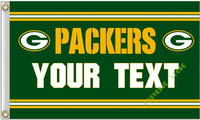 90x150cm Green Bay Packers Flag YOUR TEXT Banner Digital Printing 100D