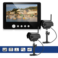 Wireless 4ch Quad DVR Security System With 9 Inch TFT LCD Monitor 2 4GHZ Digital Baby