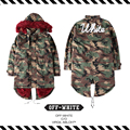 Best Version  2016 Fall Winter Off White C/O VIRGIL Jacket Silver Men Women Windbreaker Camouflage Camo Army Trench Coat  Jacket