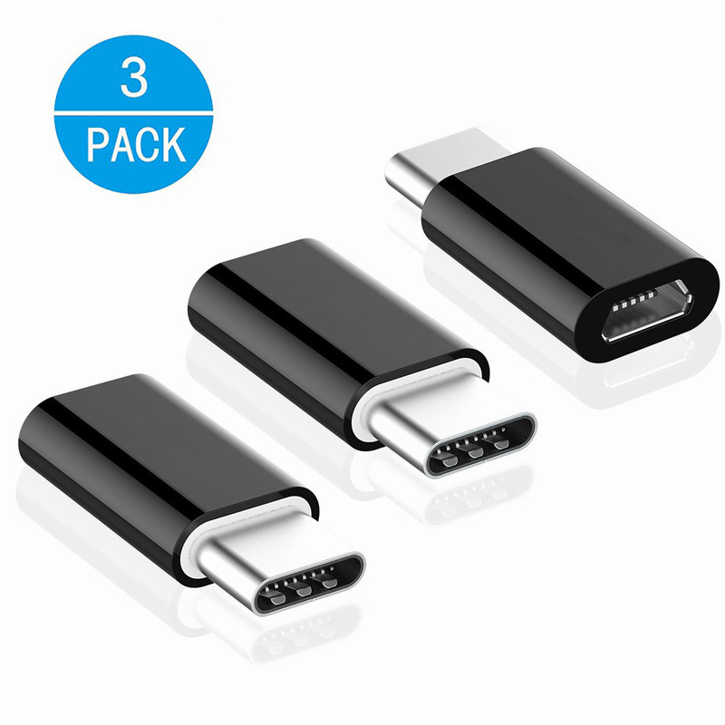 3Pack Otg Micro Usb To Type C Cable Adapter Usb Type-c Converter Adaptador for Samsung title=