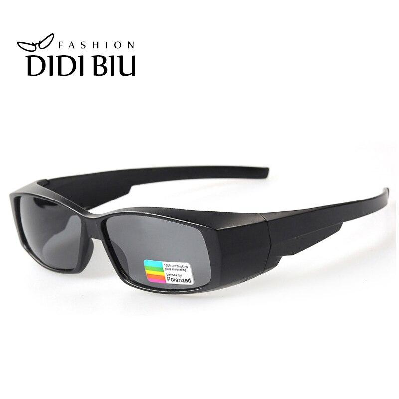 DIDI polarizado ajuste óptico Gafas de sol hombres miopía rectángulo cubierta Gafas de sol de la marca de lujo de las mujeres Gafas H292