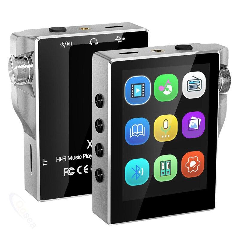 16GB 8GB MP3 Jogador com Bluetooth Rádio FM Leitor de Música de Alta Fidelidade de Alta Resolução Sem Perdas de Áudio Digital com Vídeo gravação E-Book
