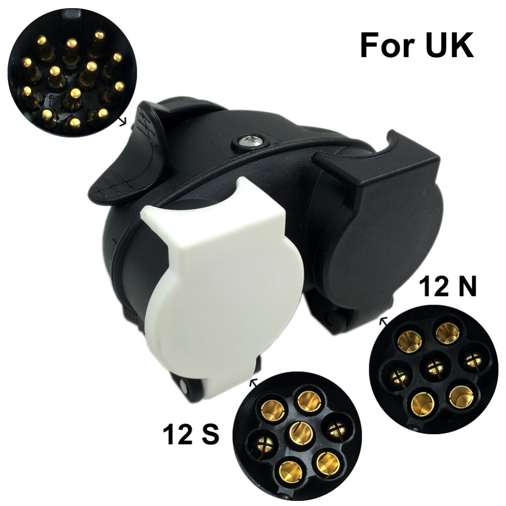 medium resolution of tirol13 pin plug to 12n 12s 7 pin sockets caravan towing 7 pin trailer socket wiring diagram uk 7 pin socket wiring uk