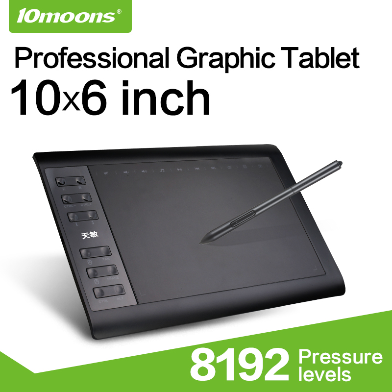 US $33.21 10% OFF|10moons 10*6 Inch Professional Graphic Tablet 8192 Levels Digital Drawing Tablet No need charge Pen Tablet -in Digital Tablets from Computer & Office on Aliexpress.com | Alibaba Group