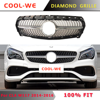 For Mercedes CLA W117 Diamond Grill for Front Bumper Grille CLA180 CLA200 CLA250 CLA300 CLA45 2013-2015