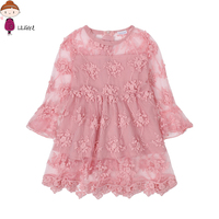 Summer Child Girls Lace Flower Dresses Baby Girl Dress For Party Dance Kids Baby Princess Night