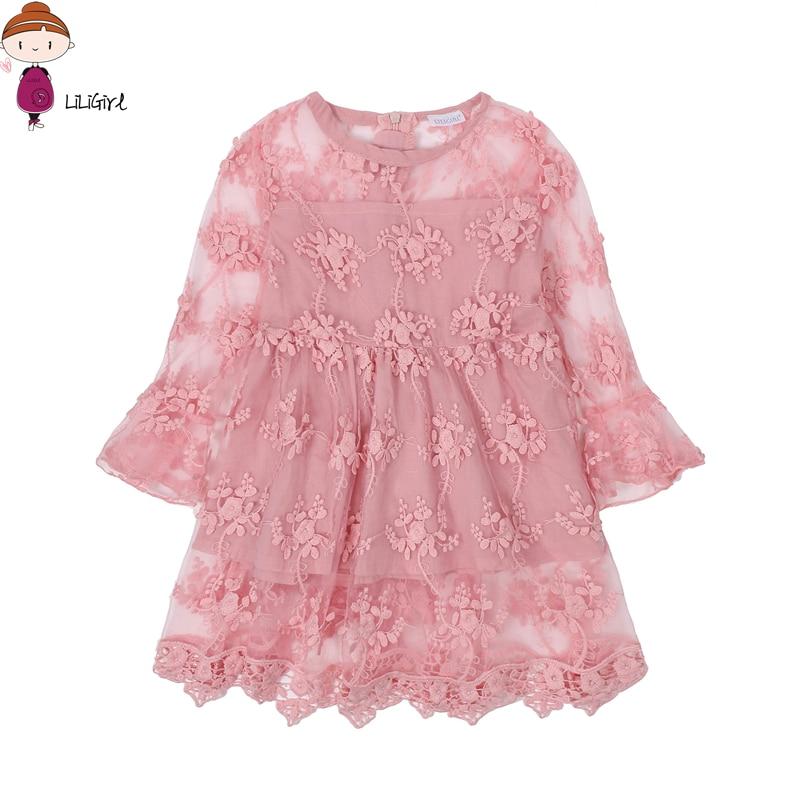 Liligirl verano niña ropa niños Vestidos para Niñas Encaje flor ...