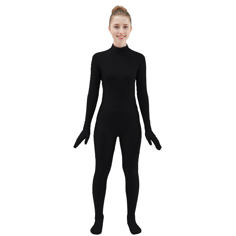 f20fce35b5a Costume si accesorii Ensnovo Black Spandex Zentai Full Body Skin Tight  Jumpsuit Unisex Zentai Suit Bodysuit Costume for Women Unitard Lycra  Dancewear
