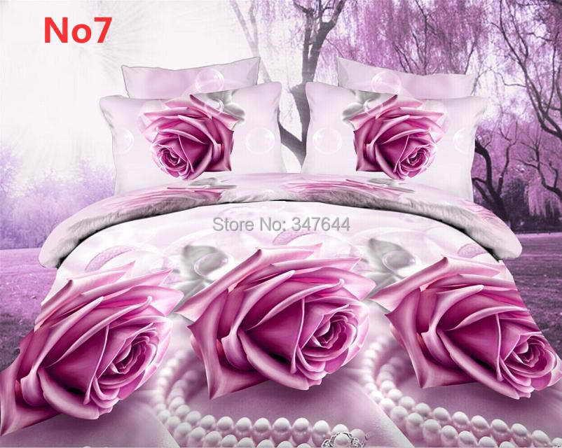 Diagonal Purple flowers pearls, 3D printed 4pc bedding set 3d unique Duvet Covers bedlinen bedclothes - Eden Trading Co., Ltd. store