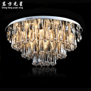 Nowoczesny żyrandol lampa led okrągły oświetlenie smoky szary kryształowe nabłyszczania luksusowe dekoracja świetlna do salonu sypialnia