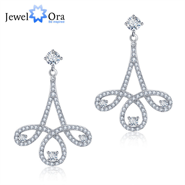 925 Sterling Silver Cubic Zirconia Drop Earrings