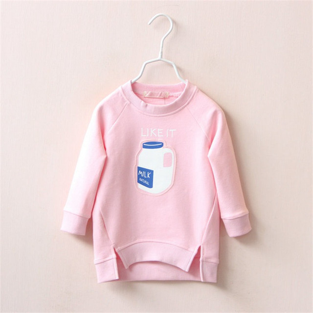 2colors New 2016 Children Fashion Hoodies Girls Sweatshirts Kids Long Sleeve T-shirts Boys Fashion Tops