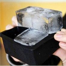 """4-полость большие силиконовые напиток кубика льда Пудинг Для желе для мыла плесень лоток инструменты пресс-формы """"сделай сам"""" пресс-форм челнока для домашнего Еда"""
