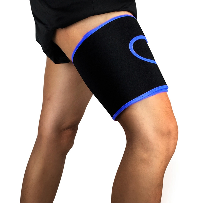 1pc Thigh Guard Adjustable Compression Protector Upper Leg Sleeve Cover Sportswear Accessories 1