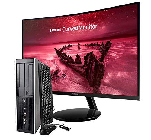 """HP Elite 8300 -Ordenador De Sobremesa + Pantalla Curva Samsung 27""""(Intel I5-3470 8 RAM,HDD De 500 GB, DVD, Windows 10 Prol) (Rea"""