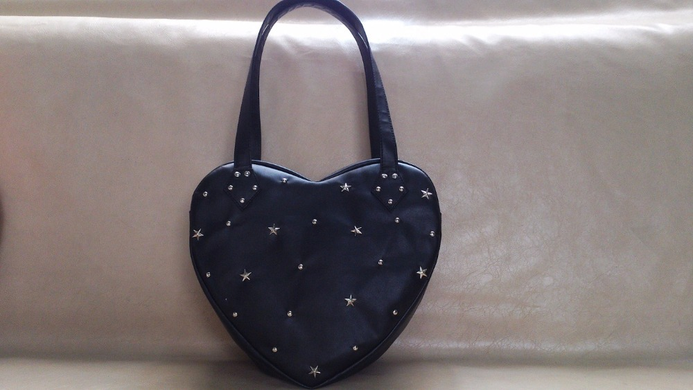 4063ba7dde Princess sweet lolita handbag loris sweet soft sister heart shaped bag  adorable cute love Star rivet handbag women loris027-in Top-Handle Bags  from Luggage ...
