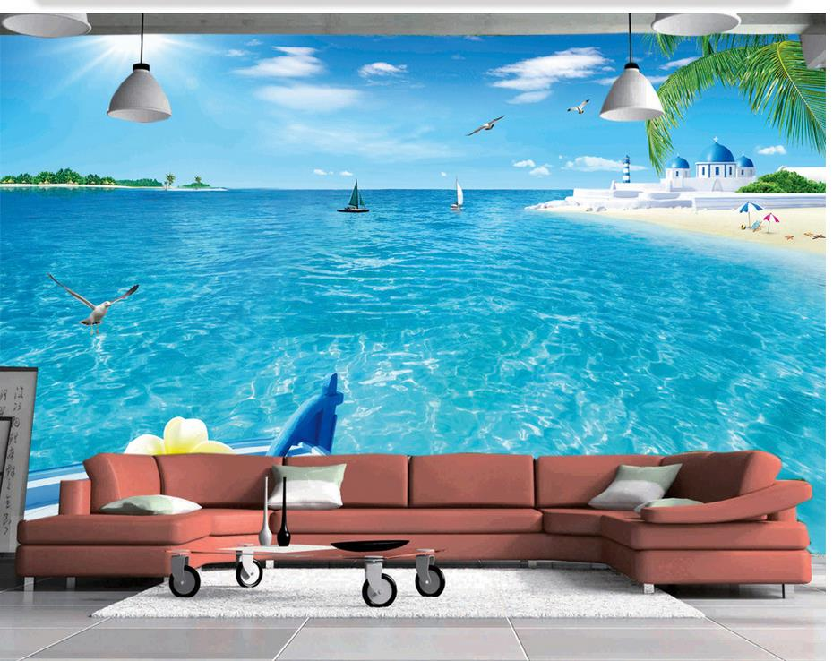 Custom Photo Wallpaper Large 3D Stereo Romantic Sandy
