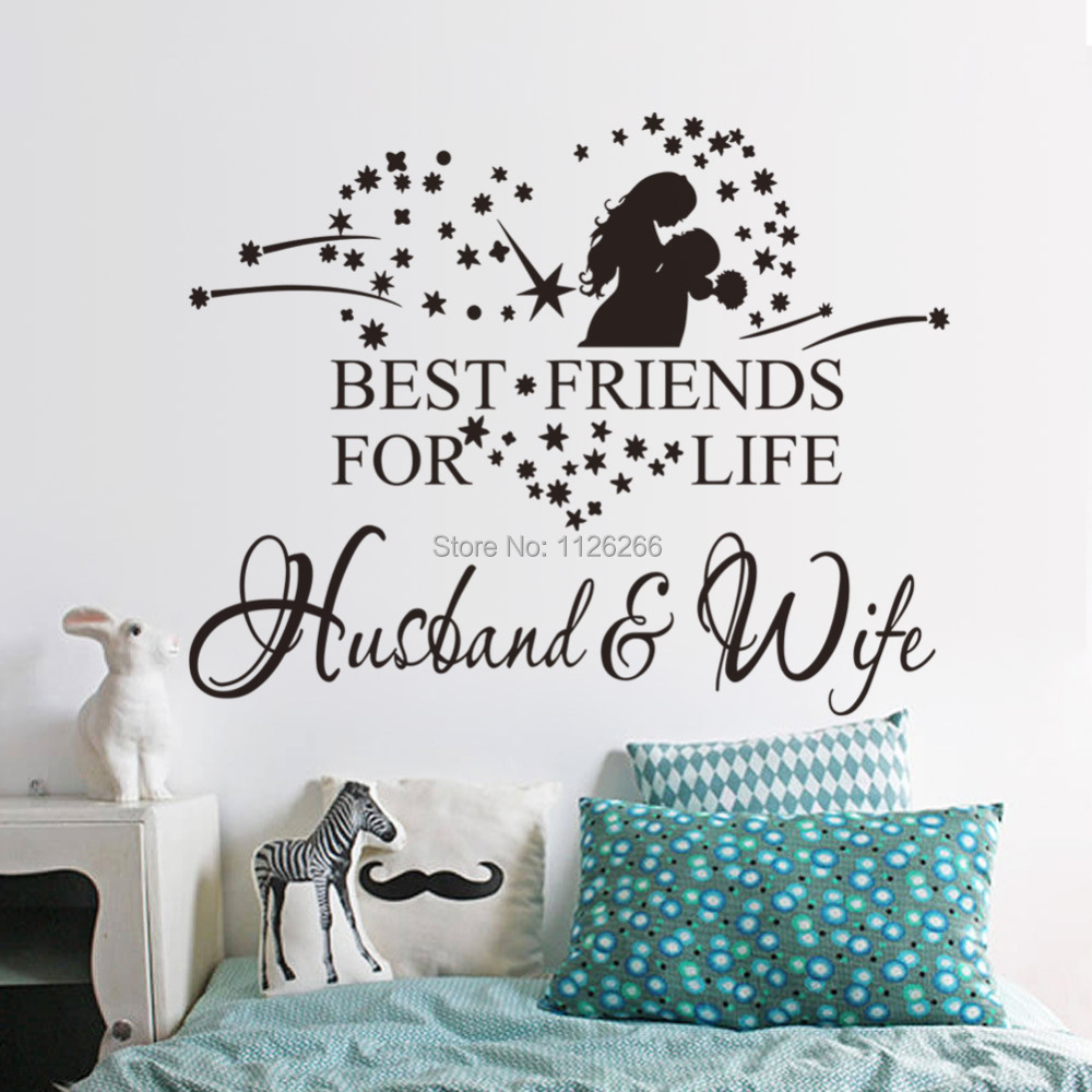 Love Quotes For A Husband Aliexpress  Buy Husband And Wife Love Quotes Vinyl Art Wall