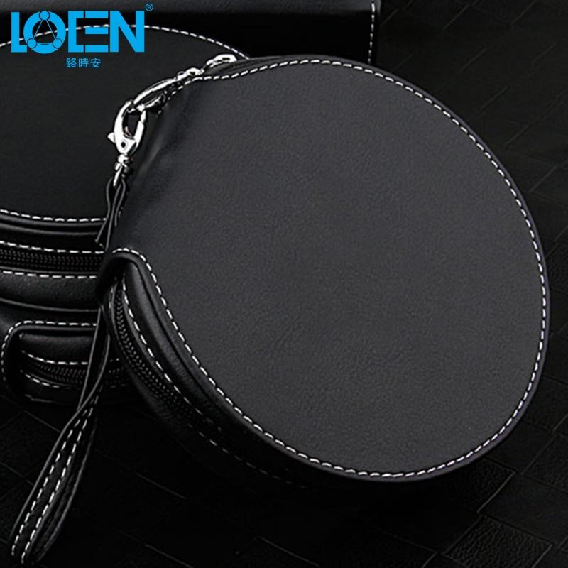 Alta calidad 1 UNID PU cuero impermeable 20 Disco con cremallera CD - Accesorios de interior de coche - foto 1