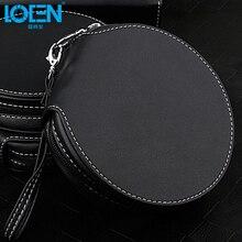 High quality 1PC PU leather waterproof 20 Disc zipper CD Holder pocket DVD Case Storage Bag DJ cover white black for Home car