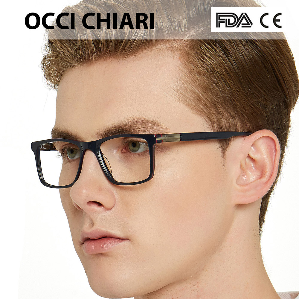 OCCI CHIARI Fashion Eyeglasses For Men Brand Designer Spring Hinge Eyewear Glasses Frame Classic Square Metal Decorate W-CAPO