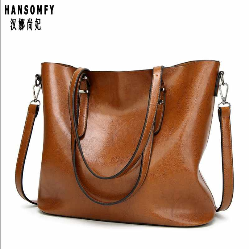 100% Genuine leather Women handbags 2019 New handbags Europe and the United States simple shoulder Messenger handbags