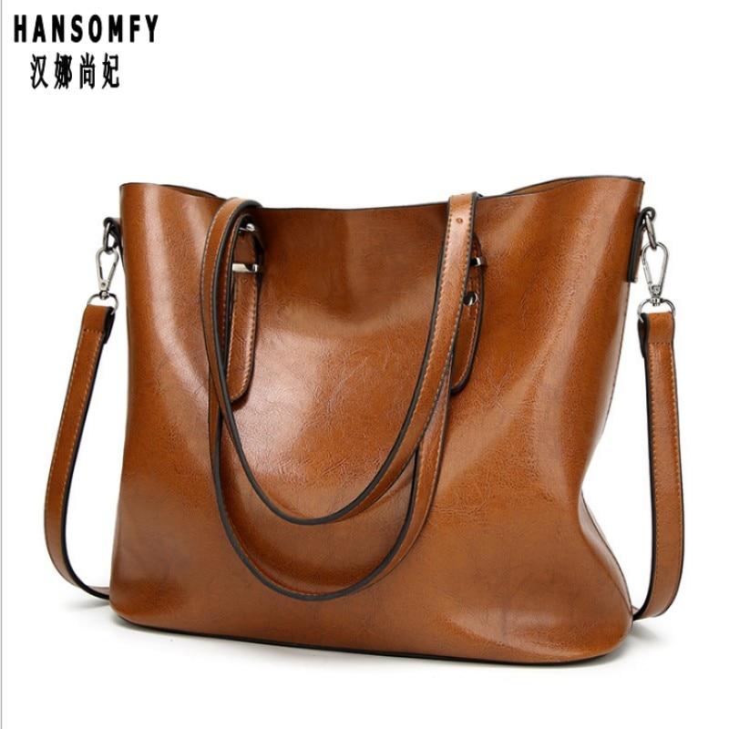 100% Genuine Leather Women Handbags 2019 New Handbags Europe And The United States Simple Shoulder Messenger Handbags