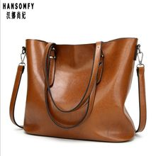 100% Genuine leather Women handbags 2019 New handbags Europe and the United States simple shoulder Messenger handbags(China)