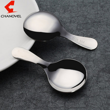 CHANOVEL 1 Pcs  Mini 304 Stainless Steel Kids Spoons Tea Cof