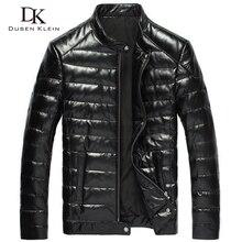 2016 New Men Genuine Leather down Jacket Brand Dusen Klein Black/Slim/Sheepskin leather Coat 14B0033