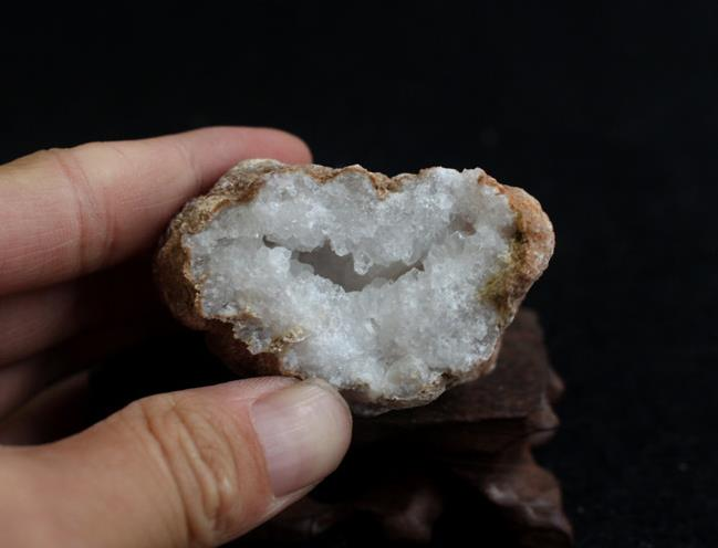 7158-59 10 Pair Natural White Agate Geode Druzy Pair BeadsWhite Open Geode Pair 16x21x5-27x35x10mm 386 Cts
