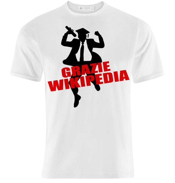 US $12 89 14% OFF|T shirt Uomo Grazie Wikipedia, Idea Regalo Laurea  Divertente, Per Un Laureato! Summer Short Sleeves Fashion T Shirt Free-in  T-Shirts