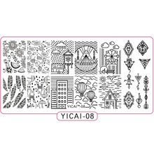 1PCS Nail Stamp Stainless Steel Fruit/Rain/Segull/Sun Designs Templates 12*6cm Summer Image Art Stamping Plates YICAI08