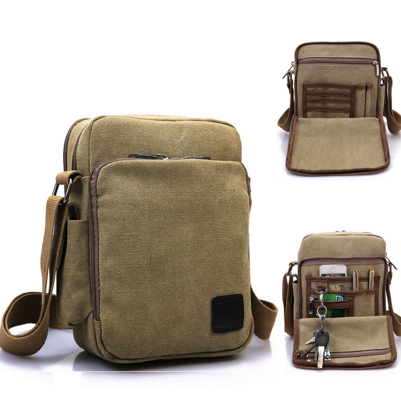 ab27470344 High Quality multifunction Canvas Bag Casual Travel Small Women s Crossbody Shoulder  Bag Men Messenger Bags Outdoor Handbag 5201