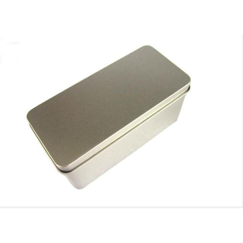 130x85x56mm prostokąt puszka do herbaty ból pudełko z cyny do 100 125g herbaty pakowanie żywności cyna może do przechowywania herbaty w Skrzynki i pojemniki od Dom i ogród na  Grupa 2