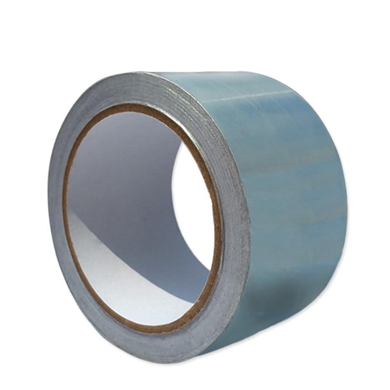 Single Conductive Aluminum Foil Tape High Temperature Tape Insulation Foil BGA LCD Computer Electric Repair 48mm * 20M * 0.06mm