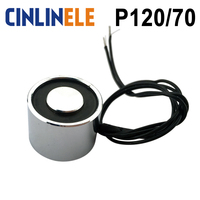 CL P 120 70 500KG 5000N Holding Electric Magnet Lifting Solenoid Sucker Electromagnet DC 6V 12V