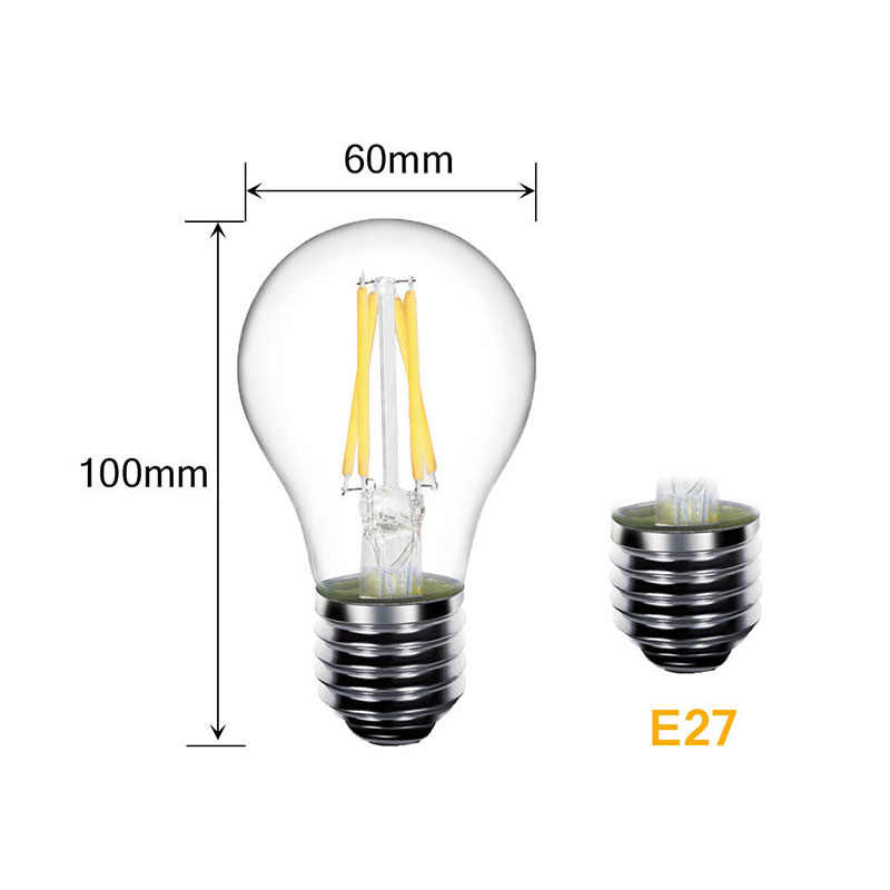 LED Bulb E27 LED Lamp E14 LED 220V E27 Bulb B22 230V Filament Edison Lamp E14 Vintage Candle Light Chandelier Incandescent Bulb