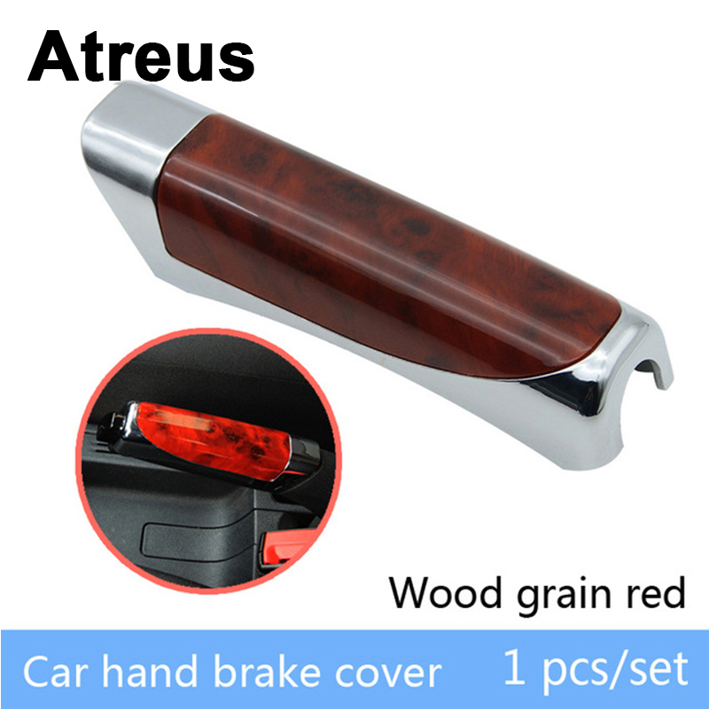 Atreus Car Styling Automobile Handbrake Grips Sticky Covers For VW Polo Passat B5 B6 Mazda 3 6 Cx-5 Toyota Corolla Ford Focus 2