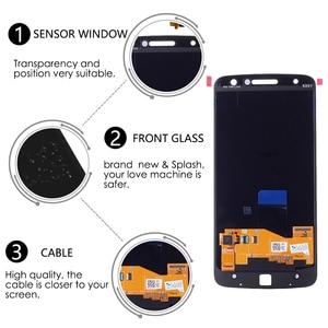 Image 3 - Original AMOLED Für Motorola Moto Z Droid XT1650 LCD Display Touchscreen Digitizer XT1650 01 XT1650 03 Bildschirm mit Burn Schatten