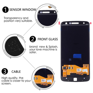 Image 3 - Original AMOLED For Motorola Moto Z Droid XT1650 LCD Display Touch Screen Digitizer XT1650 01 XT1650 03 Screen with Burn Shadow