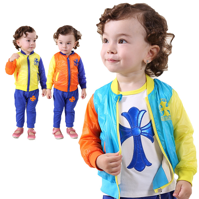 ФОТО Anlencool 2017 Special Offer Roupas Meninos free Shipping Fall New Baby's Clothes Set Sun for Suit Brand Newbron Baby Clothing